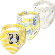 BB060C Mom's Care Set of 3 Baby Bandana Bibs - Bees