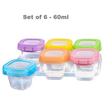 New BPA Free Microwavable Baby Food Storage Cups & Tray Set