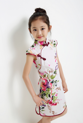 16bf149c224 CS022 Girls Traditional CNY Cheongsam Qipao - Pink