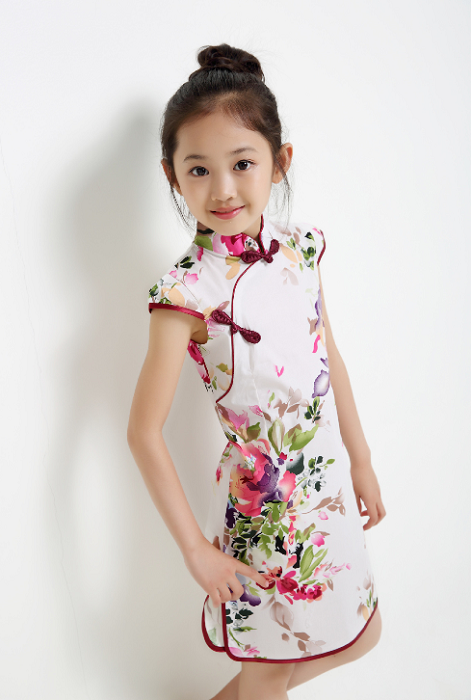 CS022 Girls Traditional CNY Cheongsam Qipao - Pink