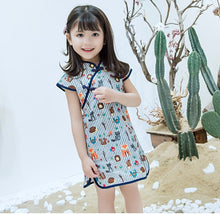 CS082 Girls Whimsical Animals Traditional Chinese Dress Cheongsam Qipao