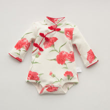 CSR014A New Baby Girls Rose Cheongsam Qipao Romper Bodysuit