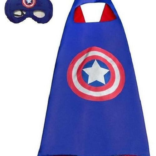 Superhero Cape & Mask - Captain America