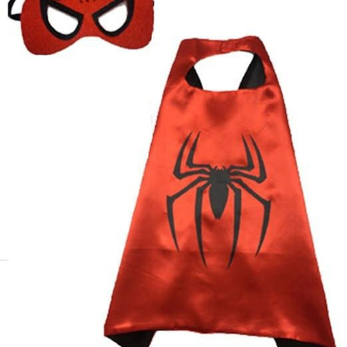 Superhero Cape & Mask - Spiderman
