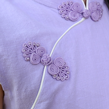 CS017 Girls Candy Coloured Cheongsam -Purple