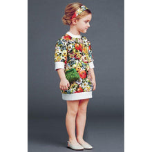 EUR014 Girls Floral Jersey Dress