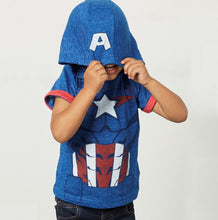 JB019 Boys Captain America Hooded Tee