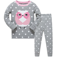 KOR109 Toddler Kids Pajamas PJs Sleepwear - Owl
