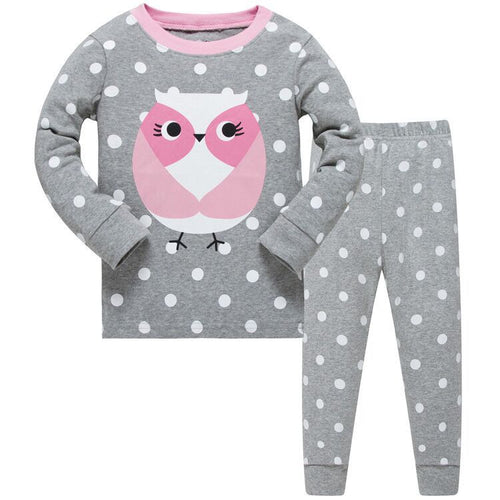KOR109 Toddler Kids Pajamas PJs Sleepwear - Owl db6bf5f72