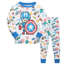 KOR112 Toddler Kids Pajamas PJs Sleepwear - Captain America Pixel
