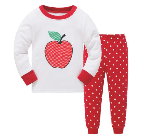 KOR114 Toddler Kids Pajamas PJs Sleepwear - Apple 4216c5f77
