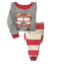 KOR125 Toddler Kids Pajamas PJs Sleepwear - Fire Engine