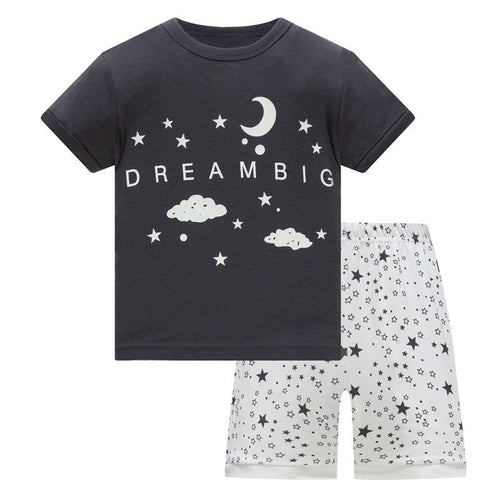 KOR147 Toddler Kids Short Pajamas PJs Sleepwear - Dream Big