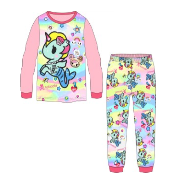 KOR154CM New Toddler Girls Unicorn Pajamas Sleepwear PJs