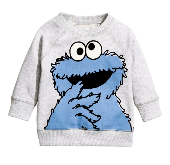 LM035 Baby Toddler Boy Girls Cookie Monster Pullover