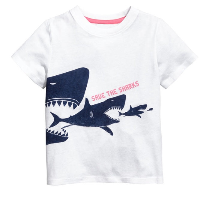 LM038 Boys Save the Shark Tee