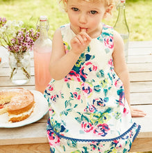 LM044 Girls Floral Dress