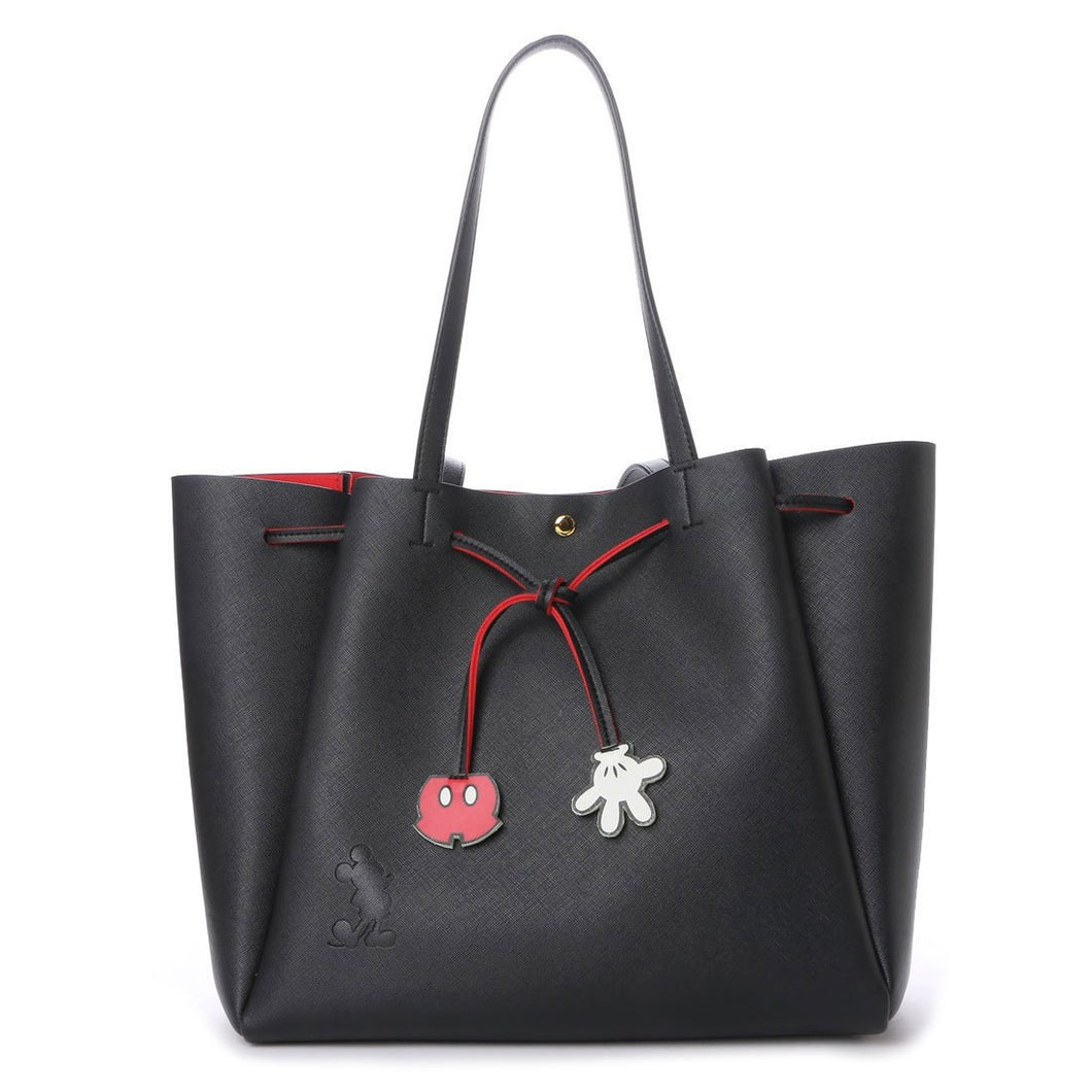 MMB01 Mickey Mouse Black Drawstring Shopper Bag