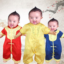 CSR025 New Baby Boy Traditional CNY Romper with Gold Trims