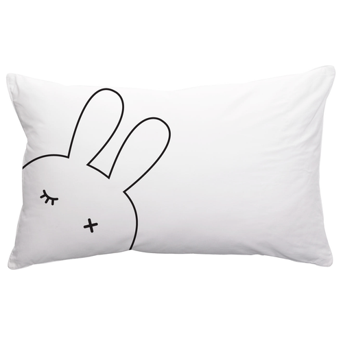 PC011 Kids Room Printed Pillowcase - White Bunny