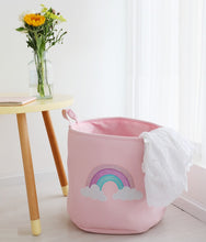 New Unicorns & Rainbows Fabric Storage Bins Baskets Laundry Nursery Room Organization [Little Gems SG]