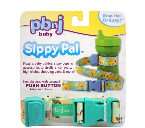 PBSP01 New PBNJ Sippy Pal Fastens to Strollers High Chairs