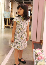 CS061 Girls Traditional Chinese Dress Cheongsam Qipao - White Lilies