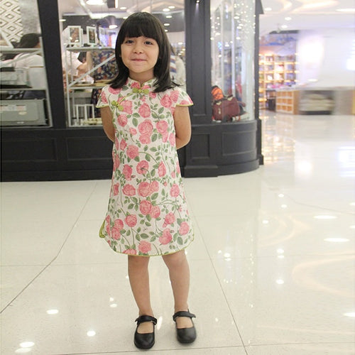 CS064 Girls Traditional Chinese Dress Cheongsam Qipao - Roses