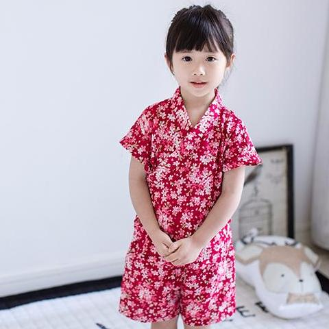 KOR069 New Baby Toddler Girls Japanese Yutaka 2 Pc Set