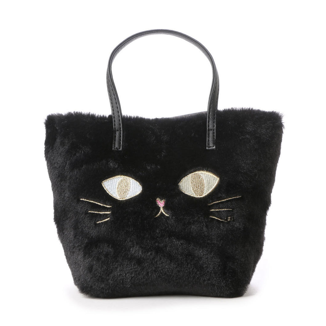 MMB22 Kitty Furry Tote Bag - 2 colours