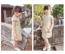 CS069 Girls  Small Dainty Florals Traditional Qipao Cheongsam