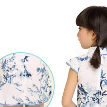 CS021 Girls Traditional CNY Cheongsam Qipao - Blue