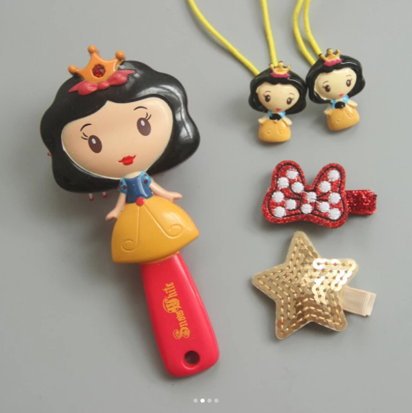 Princess Hairbrush and Hair Accessories Set