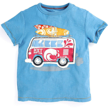 LM022 Boys Blue Vacation Van Tee