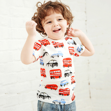 LM032 Boys London Bus & Taxis Cabs Tee