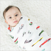 CH016 Infant Muslin Swaddle Blanket Stroller Bamboo - Cars