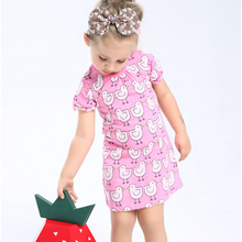 LM027 Girls Pink Chicks Dress