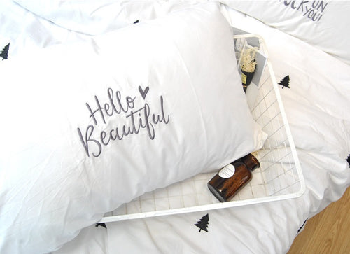 PC006 Kids Room Embroidered Pillowcase - Hello Beautiful
