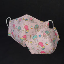Kids Reusable Washable Mask [Little Gems SG] Ready Stock Prints MSK009 Water Repellent Prevent Droplets Twin Stars Kitty