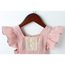 KOR067 New Baby Toddler Girls Pink Lace Dress