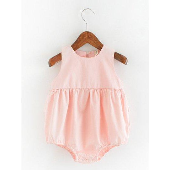 TI002 Baby Girls Blushing Pink Ruffles Bubble Playsuit