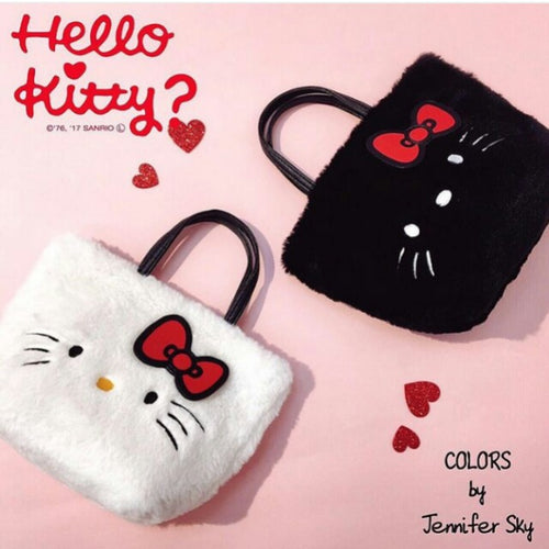 MMB12 Hello Kitty Furry Tote Bag