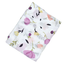 CH005 Infant Muslin Swaddle - Purple Posies