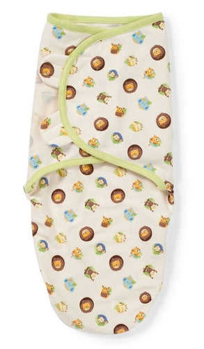 SW010 Miracle Baby Infant Swaddle Cotton Knit  - Animal Medallions