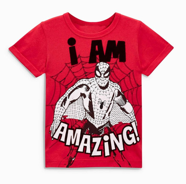 LM046 Boys Red Amazing Spiderman Tee
