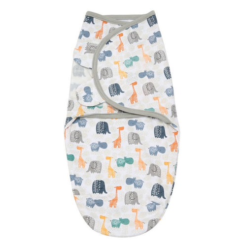 SW024 Infant Swaddle Cotton Knit - Elephants