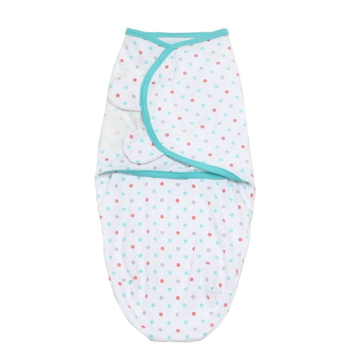 SW026 Infant Swaddle Cotton Knit - Polka Dots