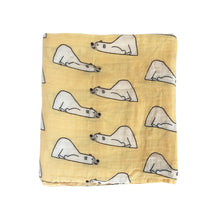 CH016 Infant Muslin Swaddle Blanket Stroller Bamboo - Yellow Bears