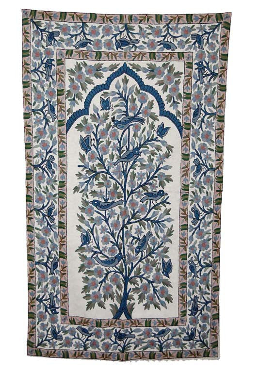 Kashmir Chain Stitch Rug, Multicolor 3x5 feet #CWR15103