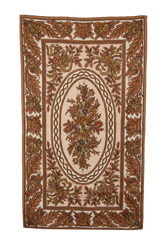 ChainStitch Tapestry Woolen Rug, Multicolor Embroidery 3x5 feet #CWR15106
